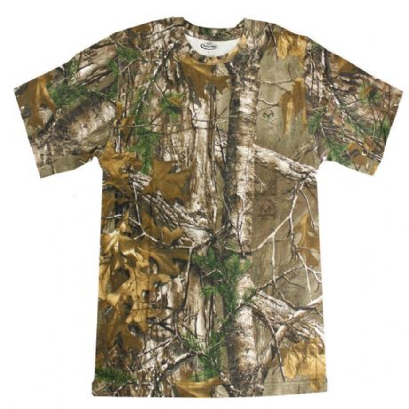 Realtree Mens Adults Short Sleeve T-Shirt Top Shooting Fishing Hunting RRP £25